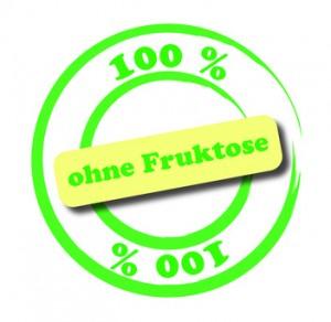 100 % ohne Fruktose Beschriftung